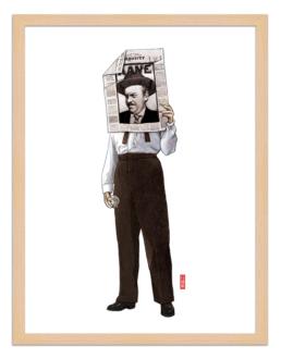 Figures du cinéma - illustration - cadre bois - Kane