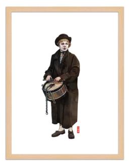 Figures du cinéma - illustration - cadre bois - Gesomina