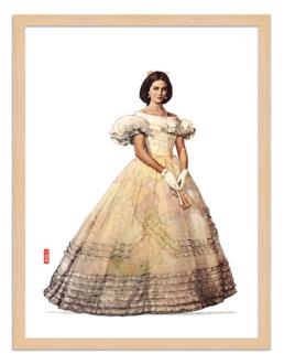 Figures du cinéma - illustration - cadre bois - Angelica Sedara