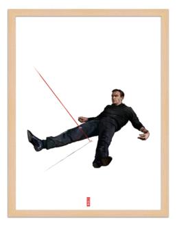 Figures du cinéma - illustration - cadre bois - James