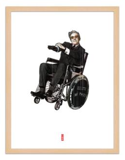 Figures du cinéma - illustration - cadre bois - Strangelove
