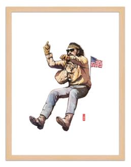 Figures du cinéma - illustration - cadre bois - Billy