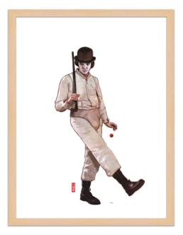 Figures du cinéma - illustration - cadre bois - Alex