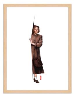 Figures du cinéma - illustration - cadre bois - Cecilia
