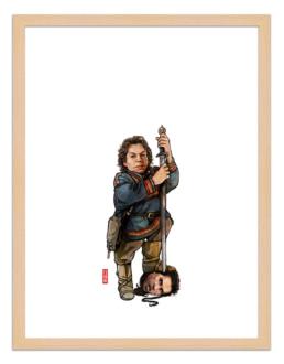 Figures du cinéma - illustration - cadre bois - Willow