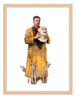 Figures du cinéma - illustration - cadre bois - Douglas