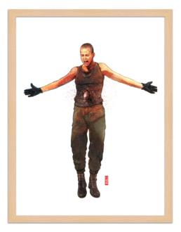 Figures du cinéma - illustration - cadre bois - Ripley