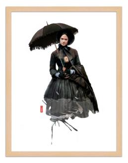 Figures du cinéma - illustration - cadre bois - Ada