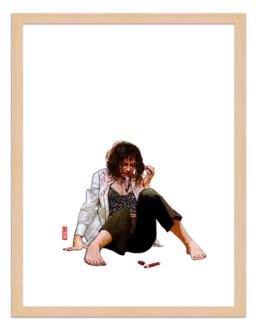 Figures du cinéma - illustration - cadre bois - Mia