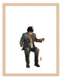 Figures du cinéma - illustration - cadre bois - Kim