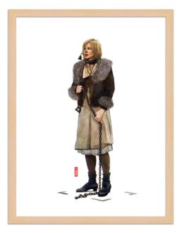 Figures du cinéma - illustration - cadre bois - Grace