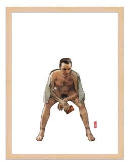 Figures du cinéma - illustration - cadre bois - Nokolai